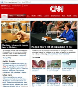 CNN website