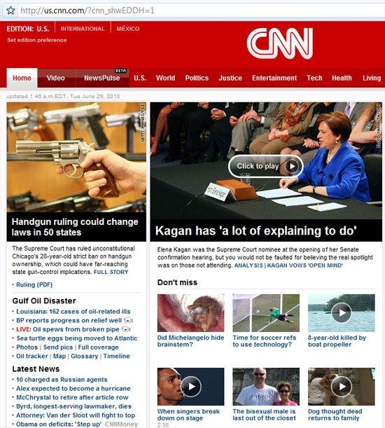 CNN website