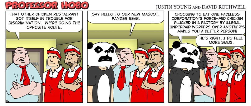 Chick-fil-A Versus Pander Bear