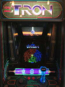 Tron's cabinet featured both a dial and joystick.