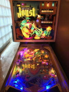 Bally's Joust pinball machine, not to be confused with a later machine based on the arcade game Joust.